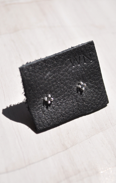 Wendy Nichol 2mm Black Diamond Studs - ANAISE
