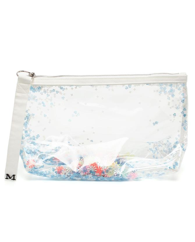 Browns fashion & designer clothes & clothing | MAISON MICHEL | 'Zoe' Sequin Filled PVC Clutch