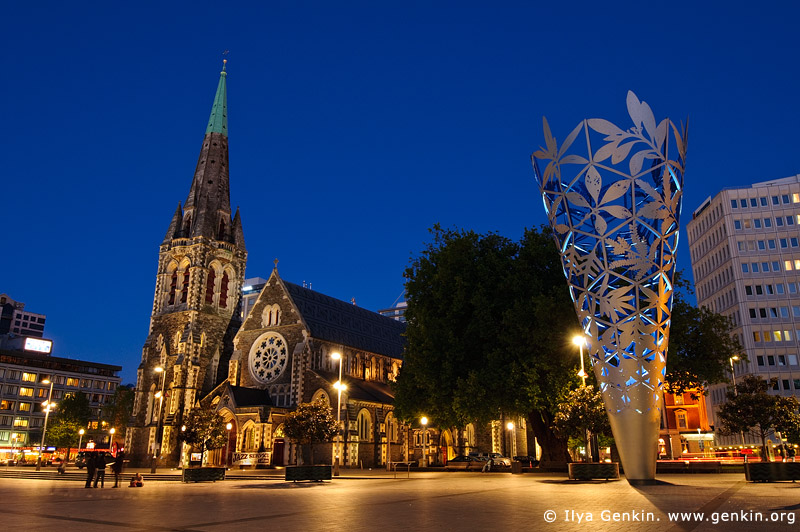 ChristChurch Cathedral and The Chalice at Night Image | Fine Art Landscape and Travel Photography | Ilya Genkin