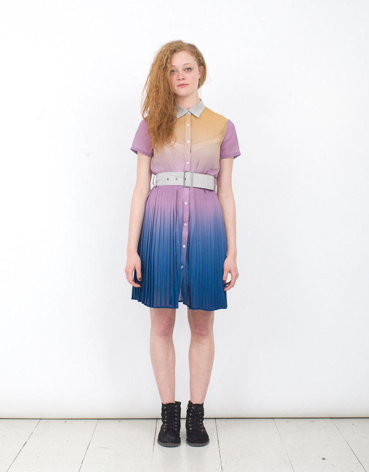 SHORT PLEAT SHIRT DRESS by JF & SON | JF & SON