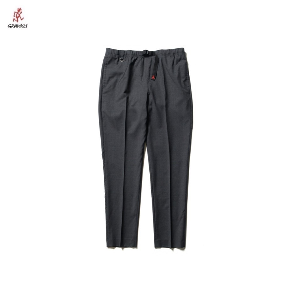 SOPH. | GRAMICCI SLIM-FIT EASY SLACKS BY LORO PIANA(M CHARCOAL GRAY):