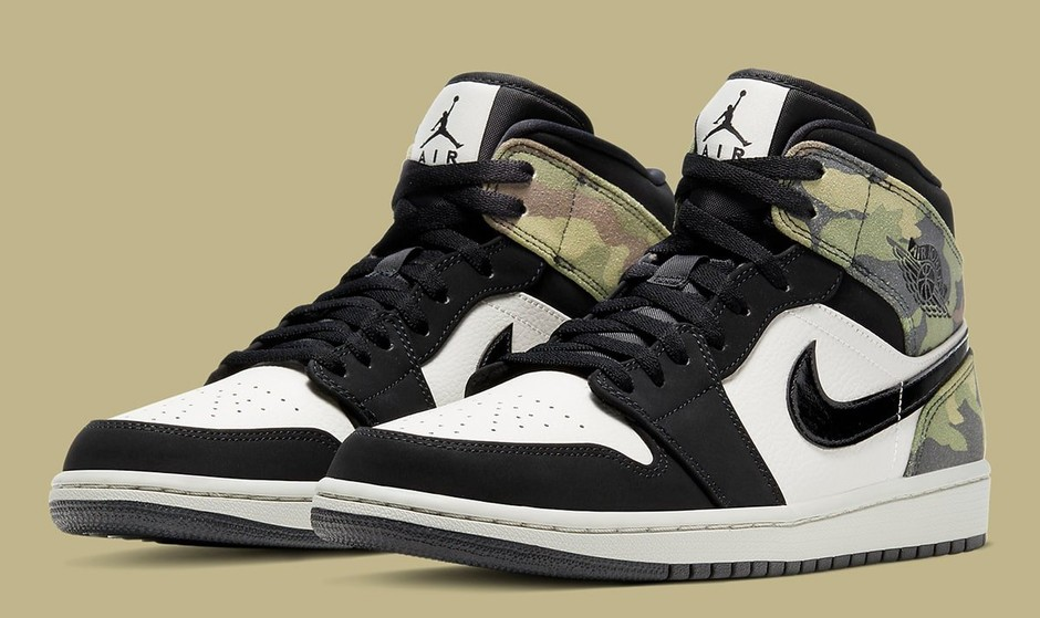 "Available Now // Air Jordan 1 Mid ""Camo"" - HOUSE OF HEAT 