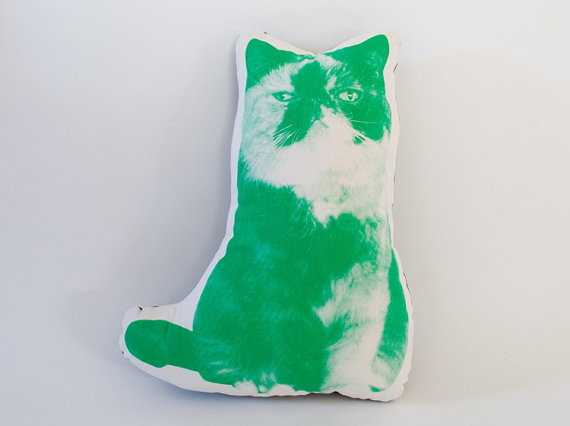 Cat Goma shaped cushion by FGMstore on Etsy