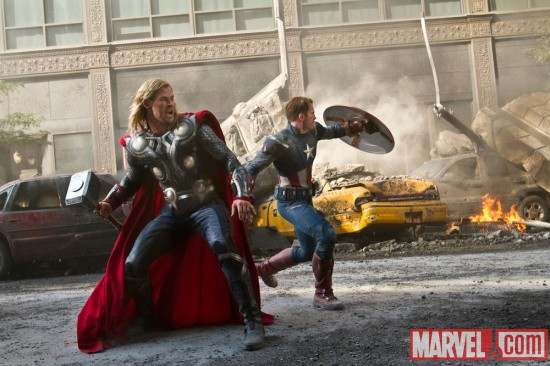 Chris Hemsworth and Chris Evans star as Thor and Captain America in Marvel's The Avengers | Apps | Marvel.com