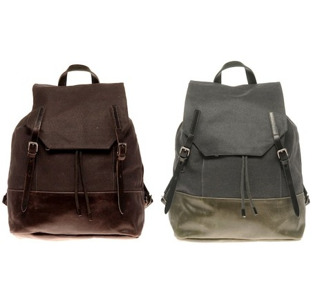 ally capellino   dean waxed canvas backpack ALLY CAPELLINO DEAN WAXED  CANVAS BACKPACK   ASOS 10% PROMOTIONAL CODE   Sumally (サマリー) 6bf702512b