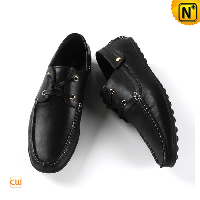 Mens Casual Leather Driving Loafers Shoes CW740080