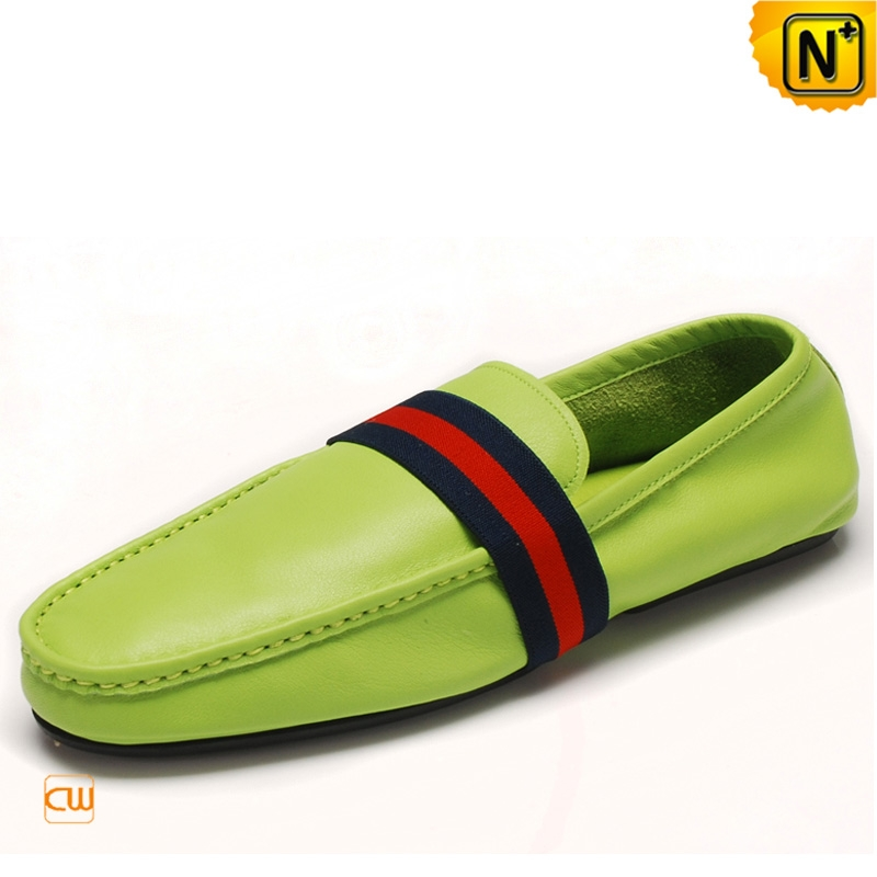 Mens Leather Slip On Driving Shoes Loafers CW740091