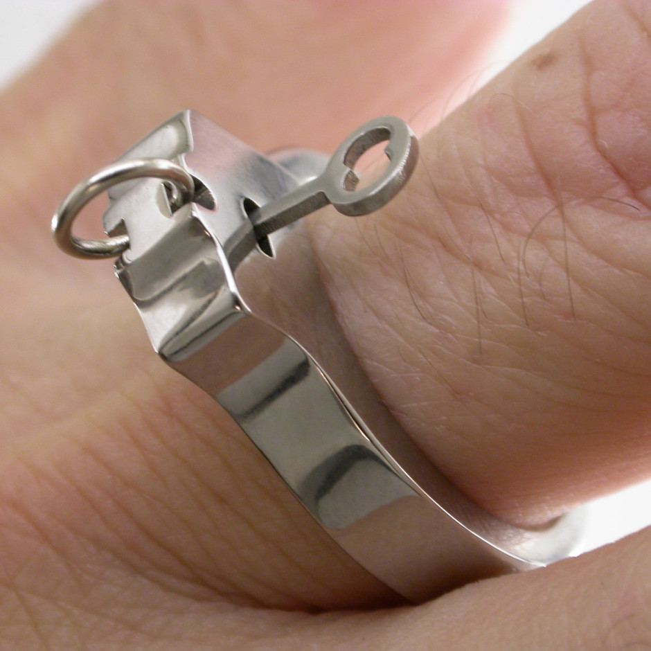 Titanium WORKING Handcuff ring by boonerings on Etsy