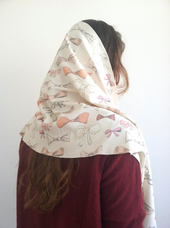 Bows Print Scarf by leahgoren on Etsy