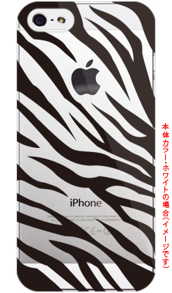 Zebra ブラック (クリア) by ROTM / for iPhone 5/SoftBank