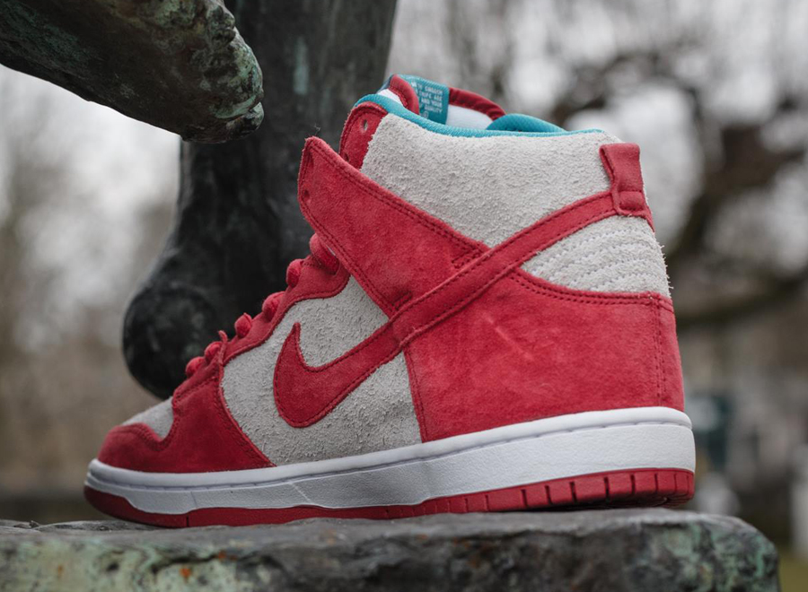 titolo nike dunk high pro sb 305050-661 Gym Red/ Gym Red- White 305050 661