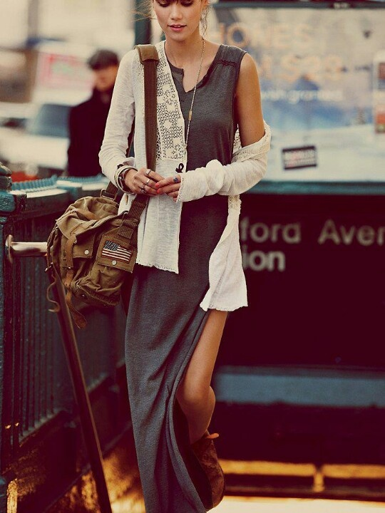 Fashion is my passion / Free people lace cardi and maxi dress. | Global Street Snap-Fashion tumblr Street Style blogs