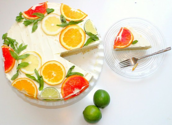 ∴‥∵‥Sweets∴‥∵‥ / Apollinas › Citrus Cake with Lemon Curd Filling and Orange Lemon Icing (a.k.a.
