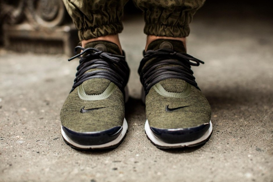 Nike Air Presto Fleece Pack QS 'Cargo Khaki/Black-Anthracite-White' – KICKS-DAILY.COM