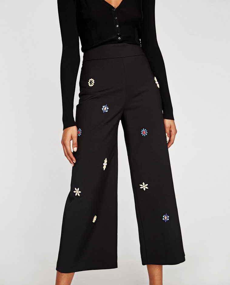 BEJEWELLED CULOTTES - Culottes-TROUSERS | SKIRTS-SALE-WOMAN | ZARA Russian Federation