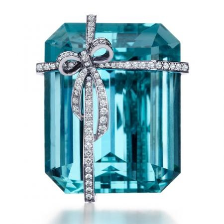 Aquamarine Brooch from Tiffany and Co.   My Jewels