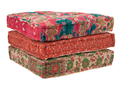 KANTHA FLOOR CUSHION | pillows | accessories | Jayson Home