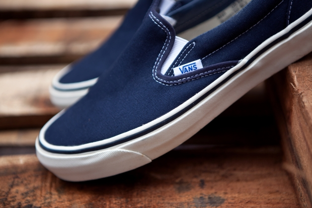 "VANS VAULT (ヴァンズ ヴォルト)""OG Classic Slip-On LX-NAVY"" Digital-Mountain"