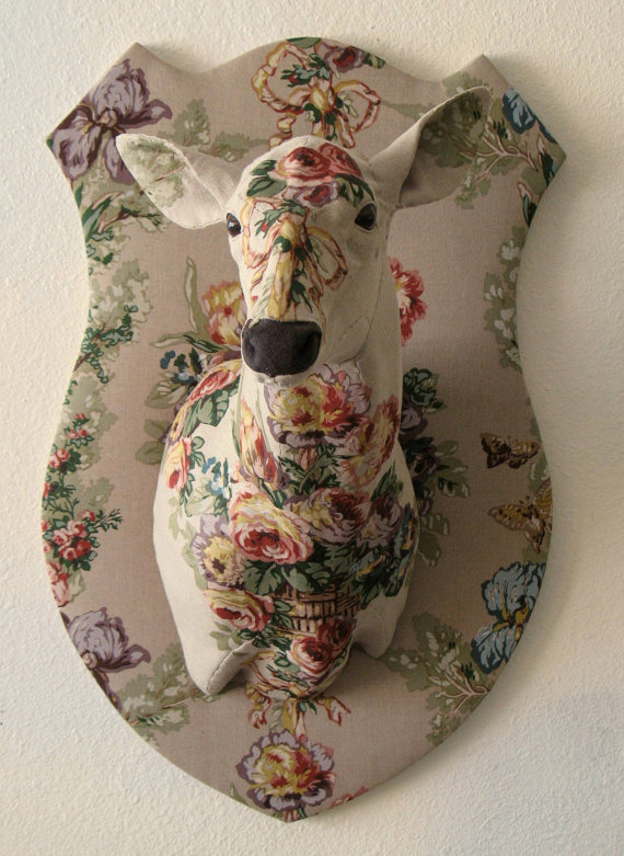 Floral Camouflage Faux Deer Trophy by concu on Etsy