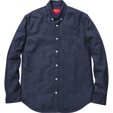 Supreme: Denim Shirt - Dark Blue