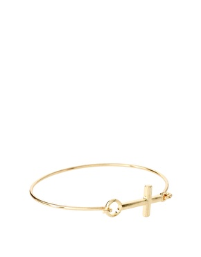 ASOS | ASOS Skinny Cross Bangle at ASOS