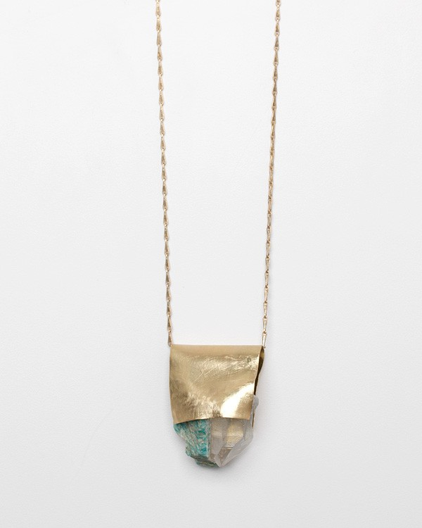 Amazonite/Quartz Necklace