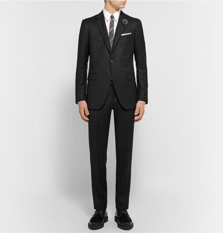 Lanvin - Black Slim-Fit Wool and Cashmere-Blend Suit