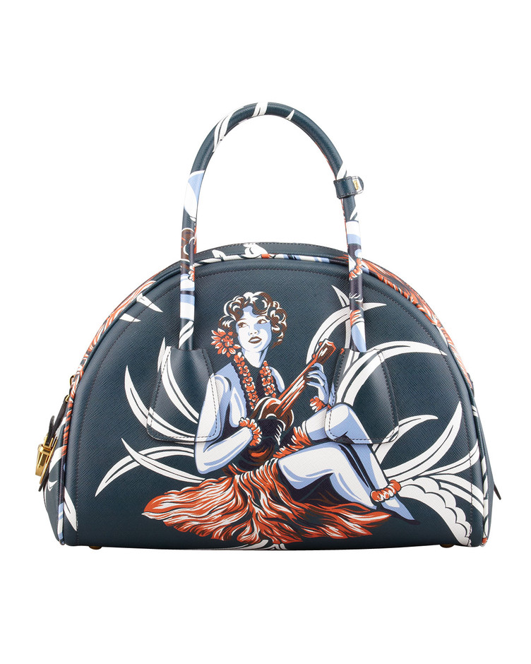 83735ae89aee JEREMY SCOTT, LONGCHAMP : Cotton weekend bag with multi-colored ...