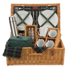 Optima Gordon 4 Person Tea Picnic Basket - Hampers - Picnic Cool Bags, Lunch Bags and Food Storage direct from POLAR GEAR