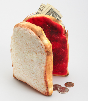 FredFlare.com - Peanut Butter and Jelly Pouch - DCI Yummy Pocket PB&J Pouch