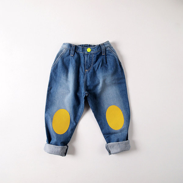 TROUSERS DENIM RODILLERAS - der kleine salon
