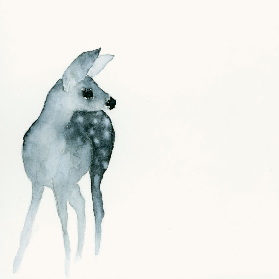Deer Fawn Fine Art Print from Original by dearcatherina on Etsy