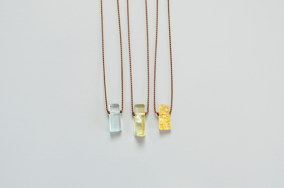 Small Geometric Beryl Necklace (Margaret Solow) - SOURCE objects