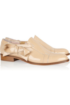 Red Valentino?|?Bow-embellished patent-leather loafers?|?NET-A-PORTER.COM