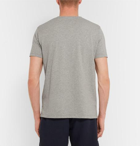Hartford - Slim-Fit Printed Cotton-Jersey T-Shirt