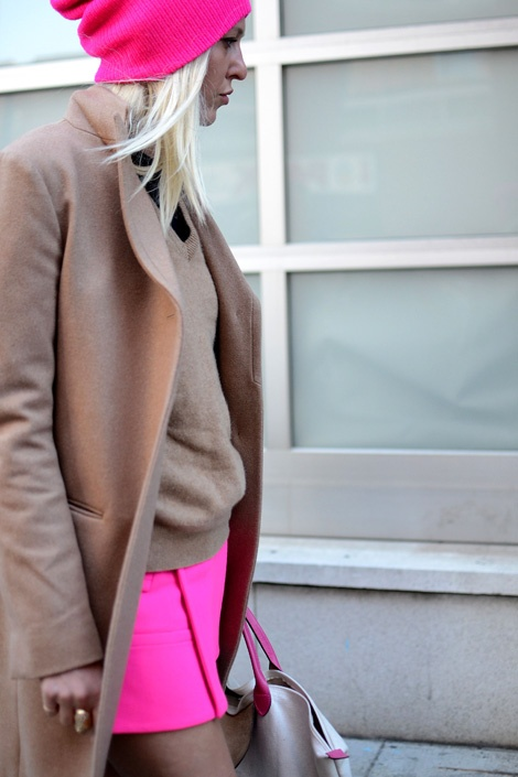 neutrals and neon. | Color