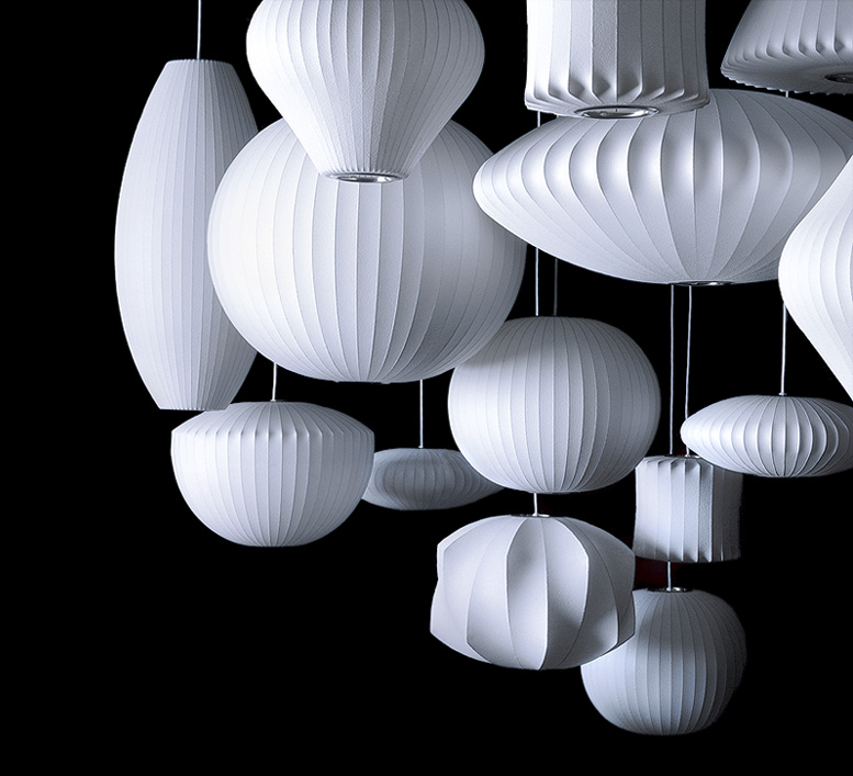 Modernica Lighting: Bubble Lamps for ceiling, floor, table, and wall
