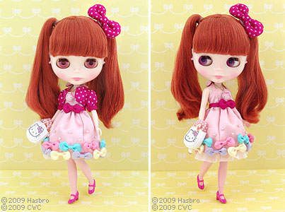 """Hello Kitty and Blythe Collaboration Doll """"CWC Exclusive Neo Blythe Ribbonetta Wish"""" : Blythe Thailand"""