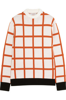 J.W.Anderson | Checked intarsia wool sweater | NET-A-PORTER.COM