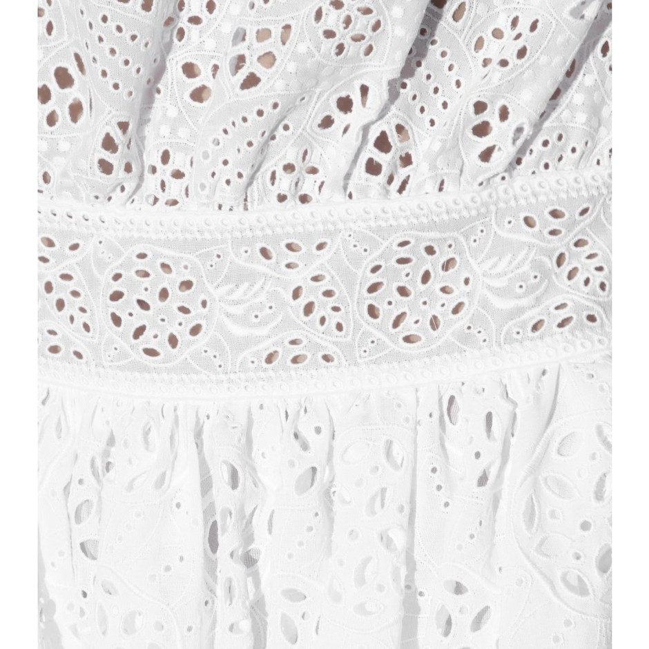 mytheresa.com - Cotton-blend broderie anglaise dress - Knee-length - Dresses - Clothing - Valentino - Luxury Fashion for Women / Designer clothing, shoes, bags