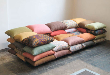 50-Cushion Couch: Super-Soft Convertible Sofa + Sleeper | Designs & Ideas on Dornob