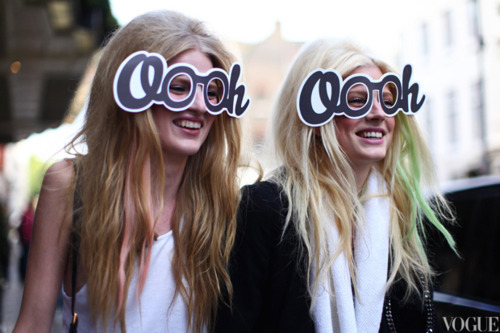 Simple but tasteful | Models after Mulberry show. LFW on we heart it / visual bookmark #25519492