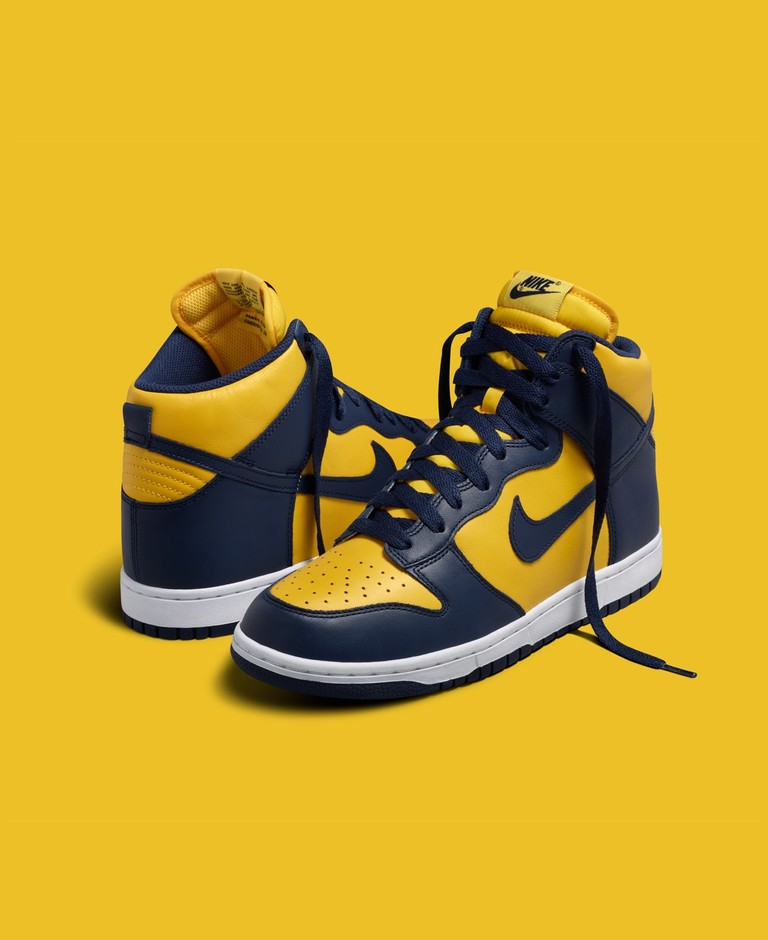 "Nike Dunk High ""Michigan"" Returns September 26th - HOUSE OF HEAT 