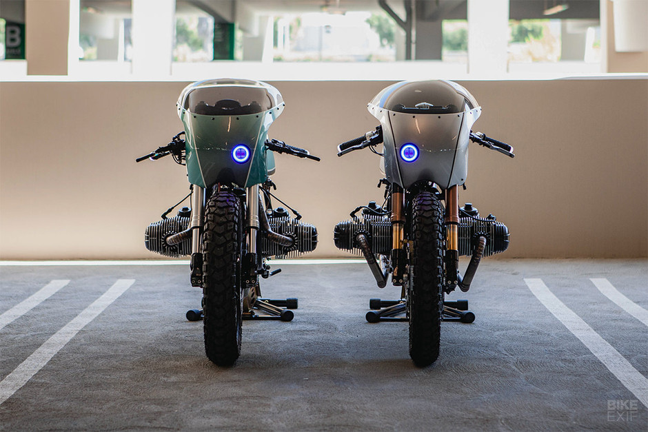 Boxer Twins: A pair of BMW R100 café racers from Upcycle | Bike EXIF