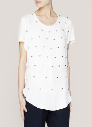3.1 Phillip Lim - Studded T-shirt | White T-Shirts Tops | Womenswear | Lane Crawford - Shop Designer Brands Online