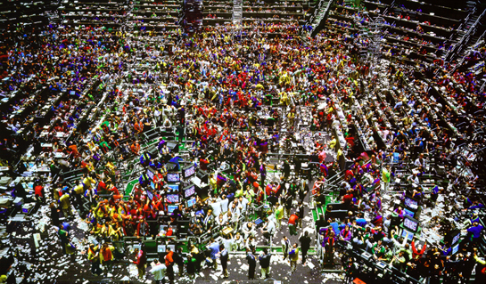Détail de l'image -Andreas Gursky. Chicago Board Of Trade. 1999. Photographie. 207 x 336 ...