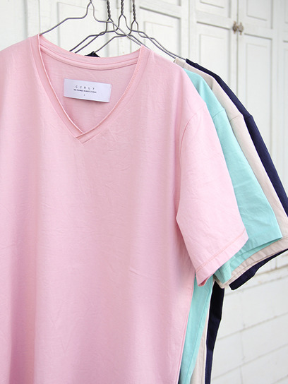 """CURLY """"SS RM V-Neck Tee""""(4colors) : Local's only"""