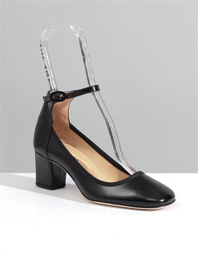 Repetto Tina Ankle Strap Mary Jane- Black