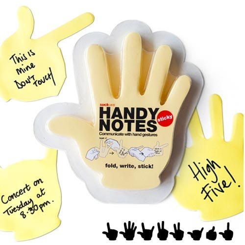 Amazon.com: Handy Notes - Hand Shaped Sticky Notes: Office Products