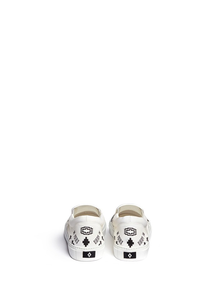 MARCELO BURLON - Patagonian' snake and graphic print skate slip-ons | White Slip-Ons | Menswear | Lane Crawford